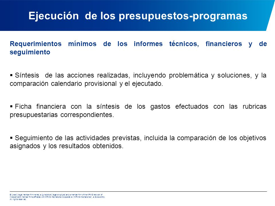 Ejecución de los presupuestos-programas