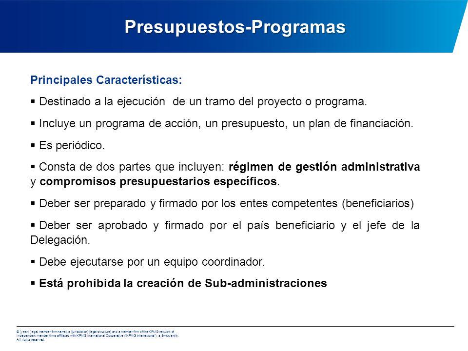 Presupuestos-Programas