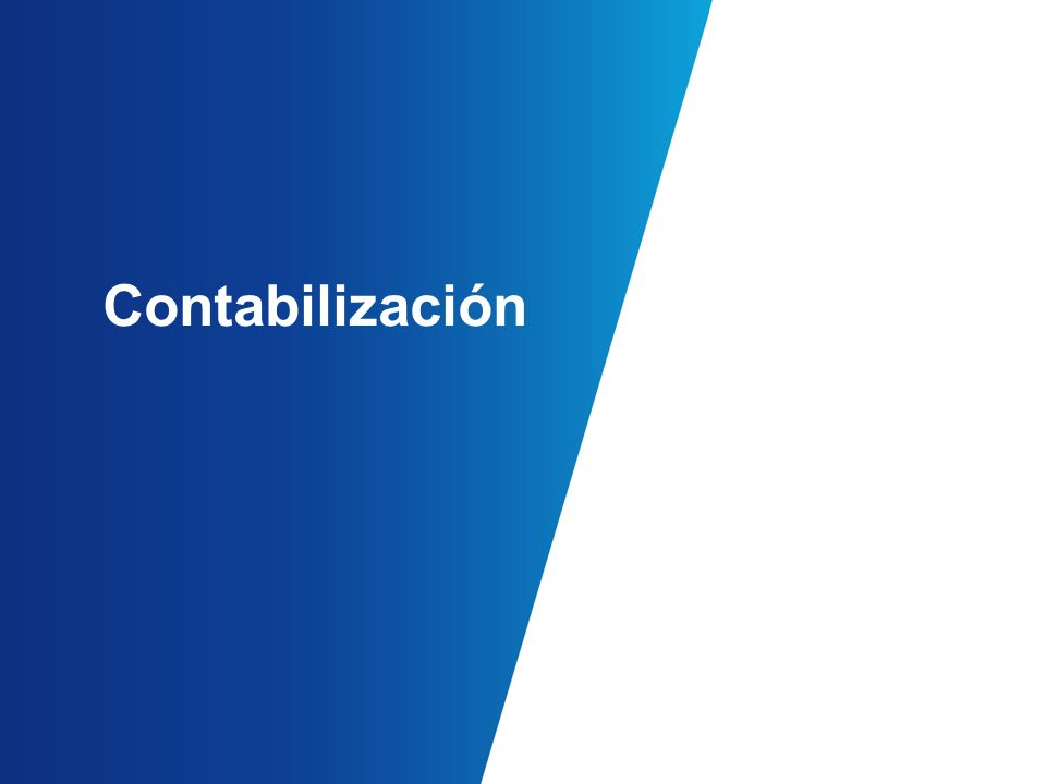 Contabilización