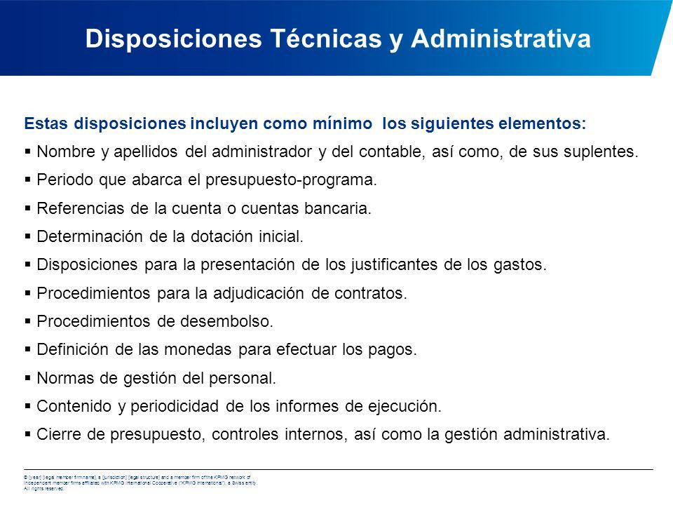 Disposiciones Técnicas y Administrativa