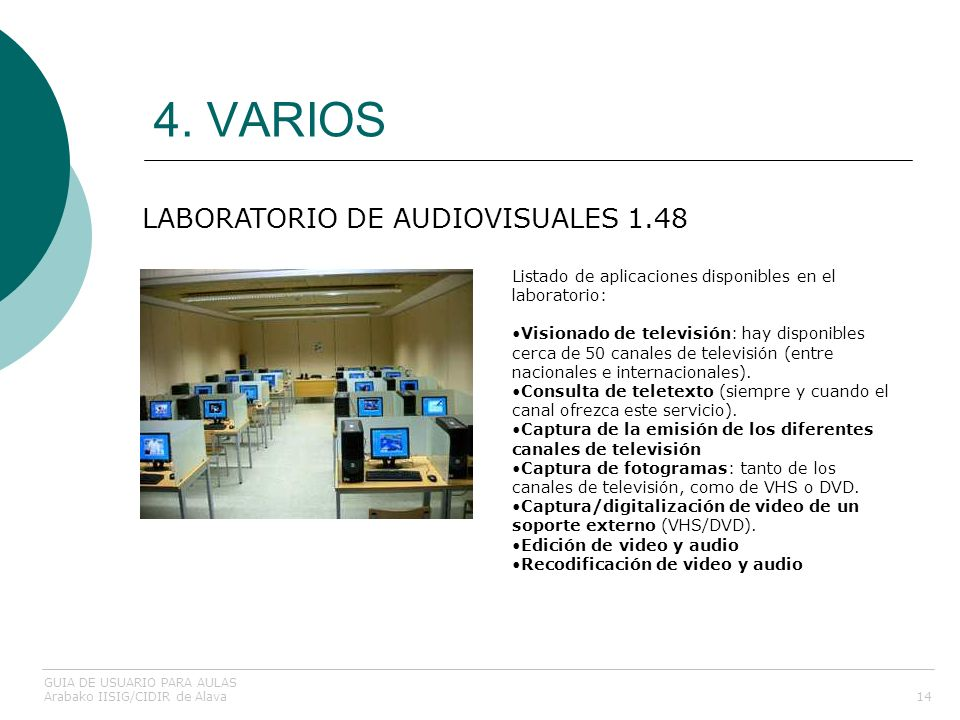 4. VARIOS LABORATORIO DE AUDIOVISUALES 1.48