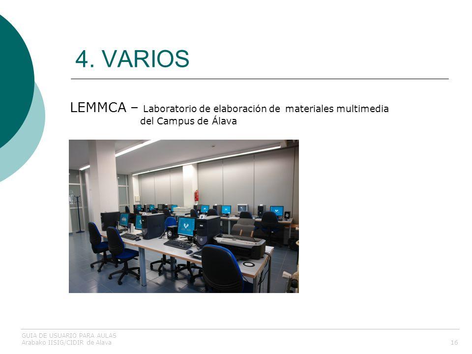 4. VARIOS LEMMCA – Laboratorio de elaboración de materiales multimedia