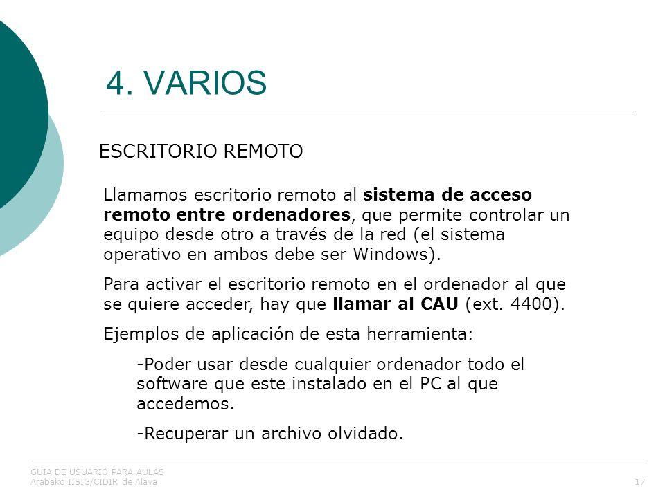 4. VARIOS ESCRITORIO REMOTO