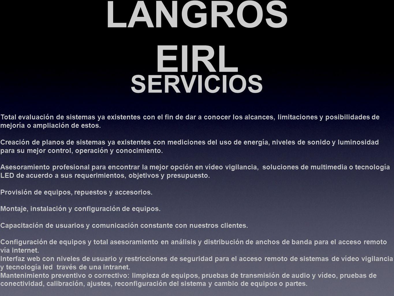 LANGROS EIRL SERVICIOS