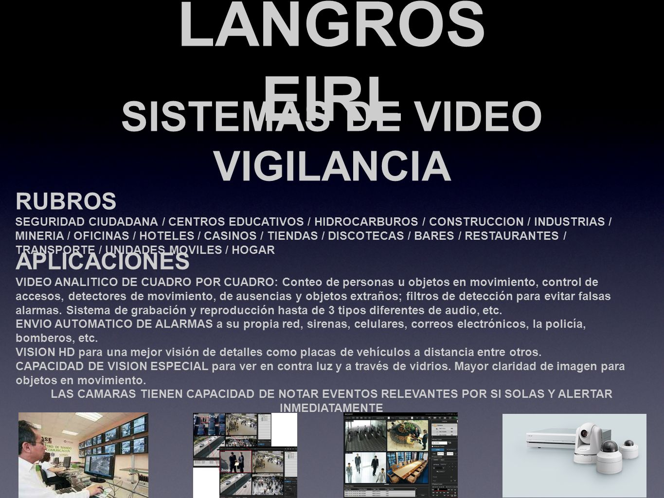 SISTEMAS DE VIDEO VIGILANCIA