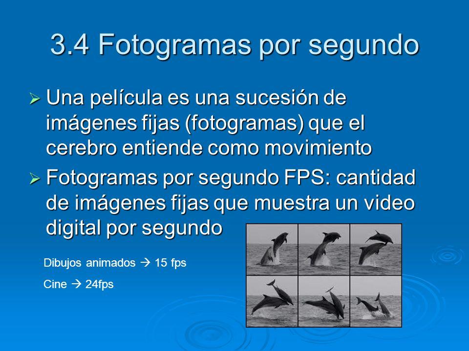 3.4 Fotogramas por segundo