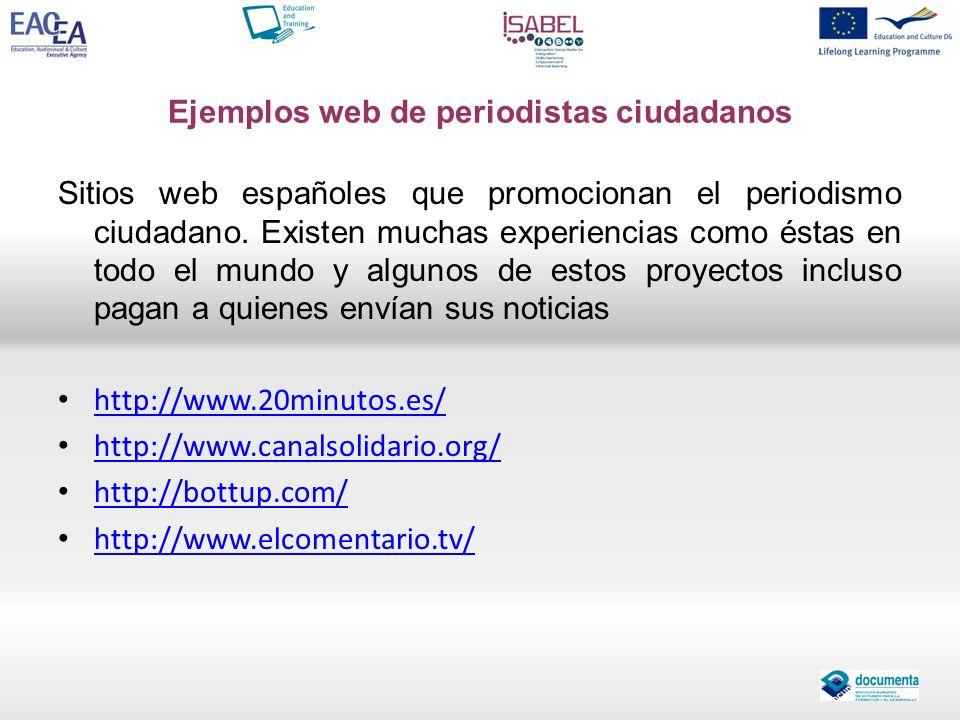 Ejemplos web de periodistas ciudadanos