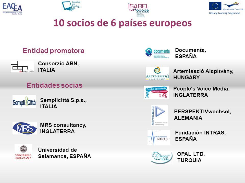 10 socios de 6 países europeos