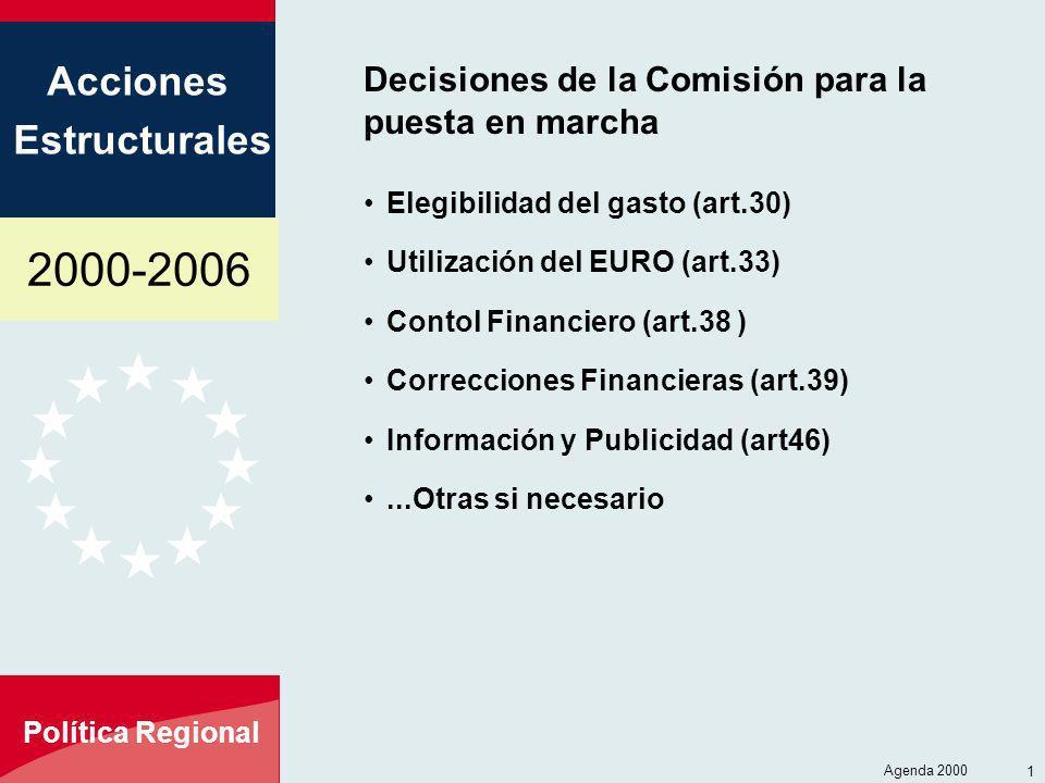 Decisiones de la Comisión para la puesta en marcha
