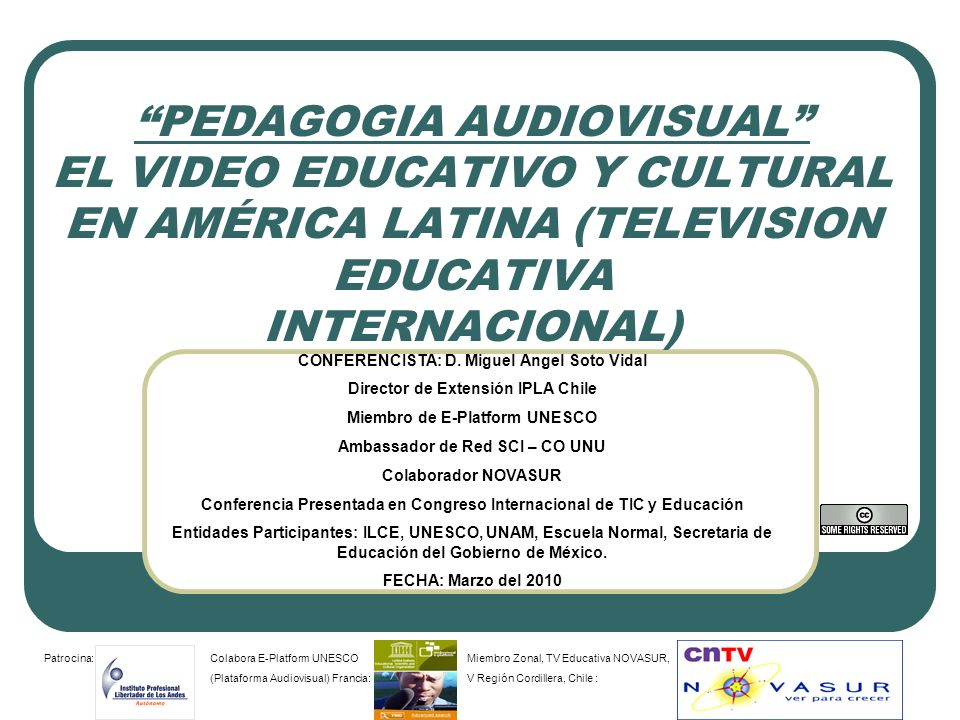 PEDAGOGIA AUDIOVISUAL EL VIDEO EDUCATIVO Y CULTURAL EN AMÉRICA LATINA (TELEVISION EDUCATIVA INTERNACIONAL)