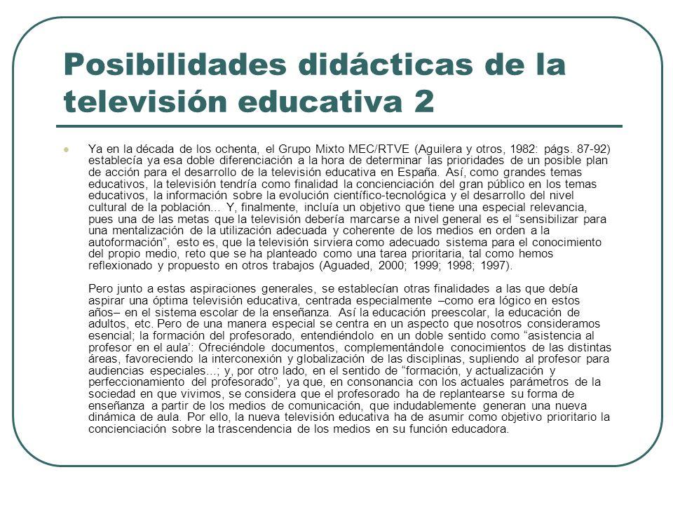Posibilidades didácticas de la televisión educativa 2