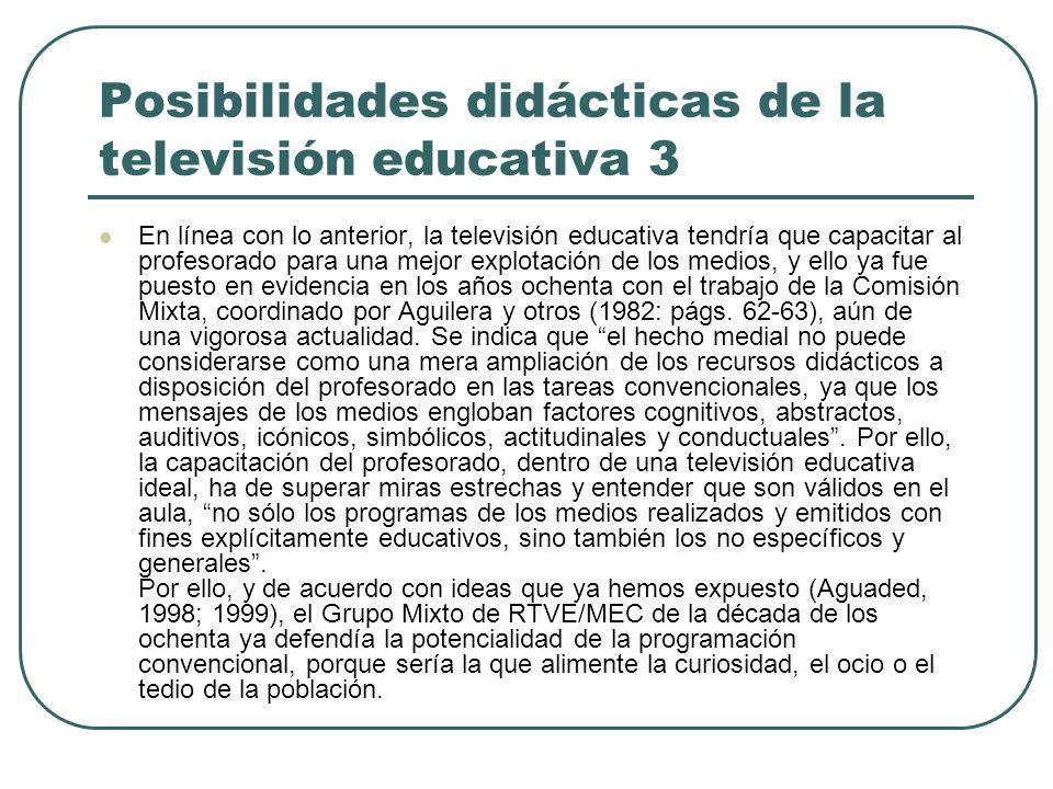 Posibilidades didácticas de la televisión educativa 3