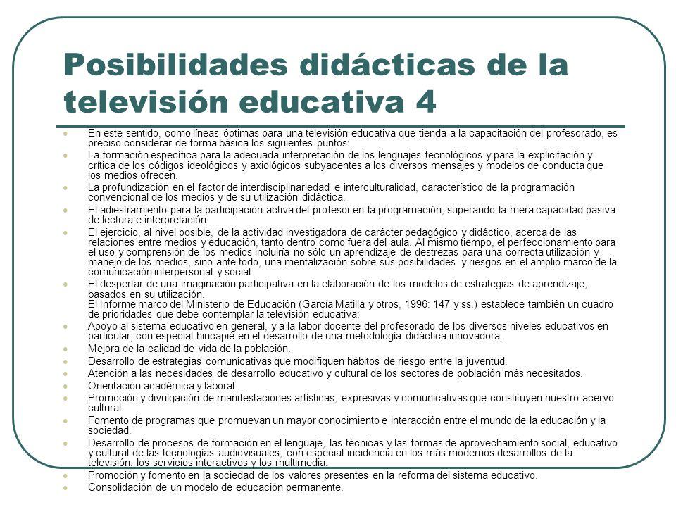 Posibilidades didácticas de la televisión educativa 4