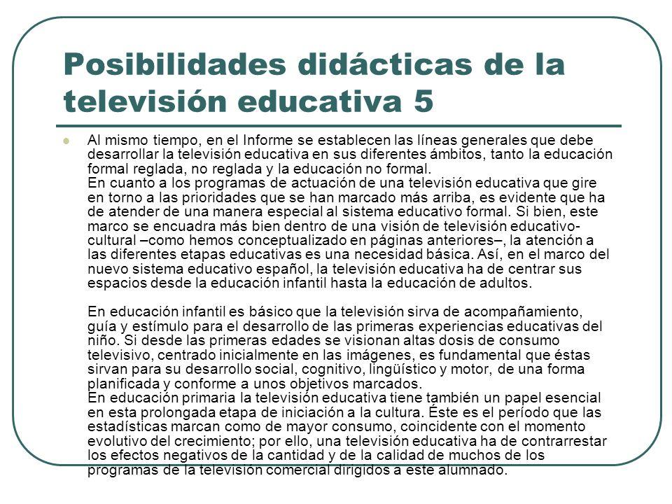 Posibilidades didácticas de la televisión educativa 5