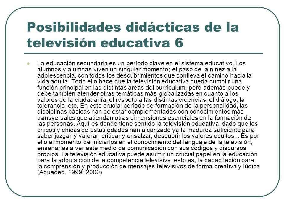 Posibilidades didácticas de la televisión educativa 6