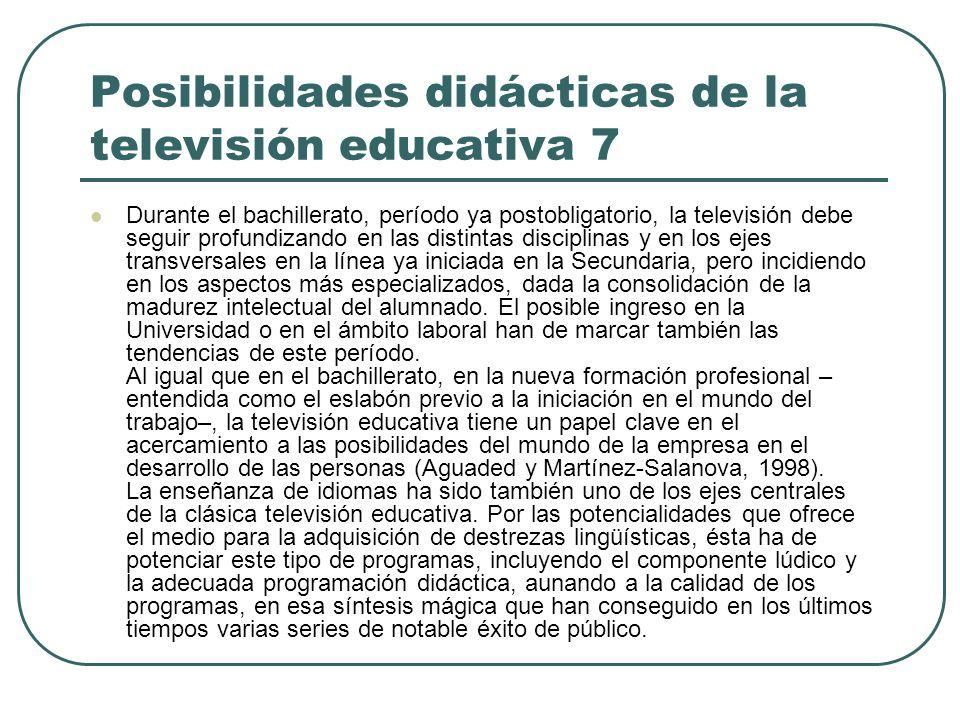 Posibilidades didácticas de la televisión educativa 7