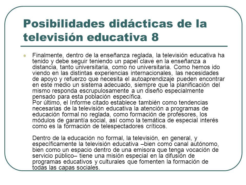 Posibilidades didácticas de la televisión educativa 8