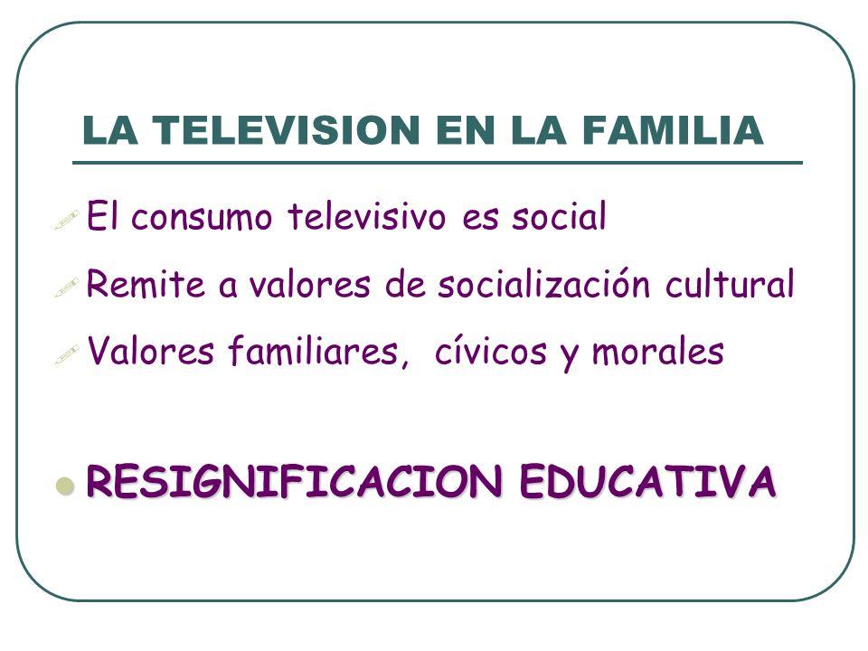 LA TELEVISION EN LA FAMILIA