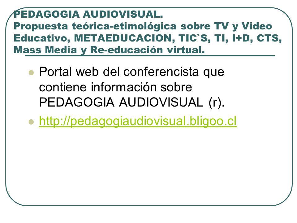 PEDAGOGIA AUDIOVISUAL