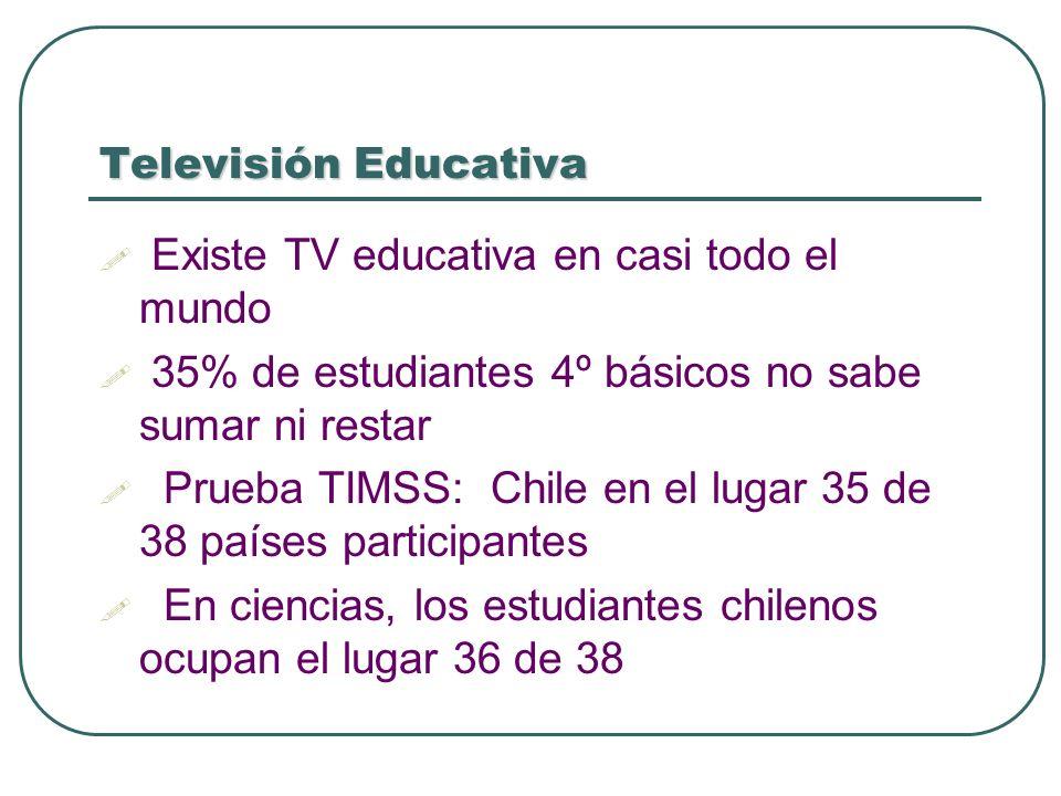 Existe TV educativa en casi todo el mundo