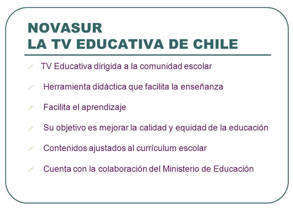 NOVASUR LA TV EDUCATIVA DE CHILE