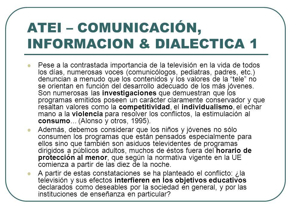 ATEI – COMUNICACIÓN, INFORMACION & DIALECTICA 1