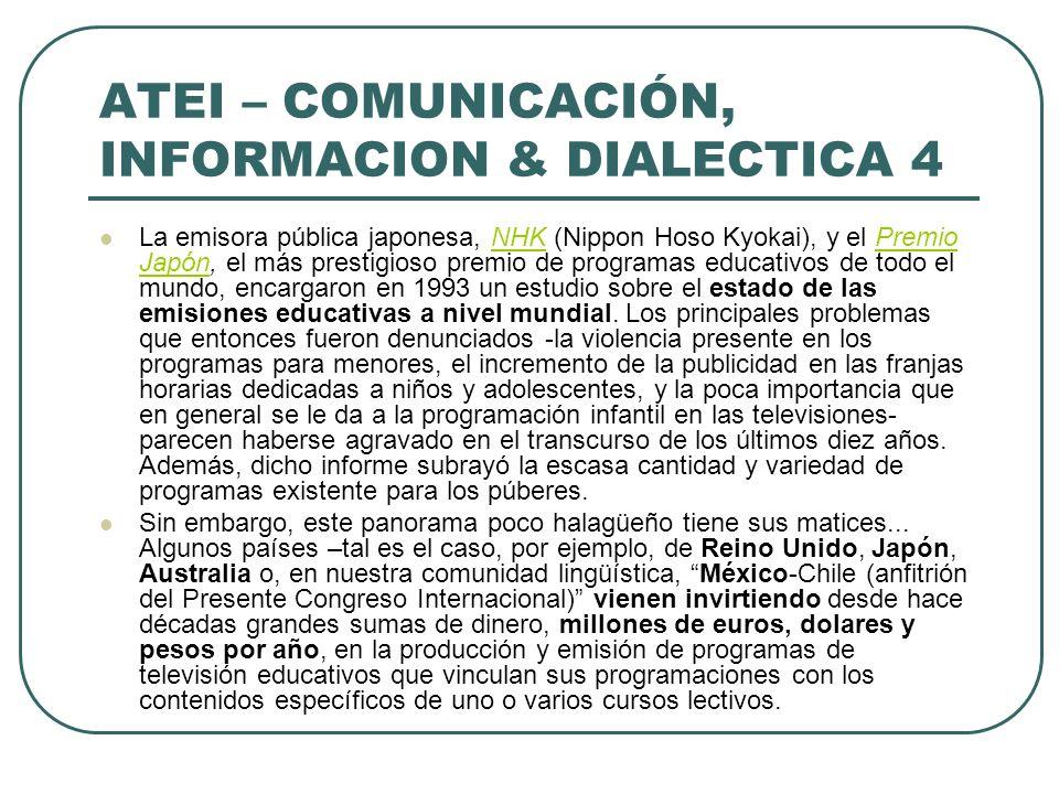 ATEI – COMUNICACIÓN, INFORMACION & DIALECTICA 4
