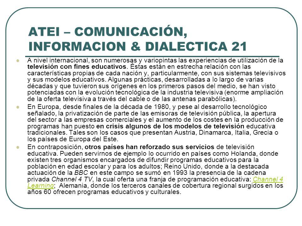 ATEI – COMUNICACIÓN, INFORMACION & DIALECTICA 21
