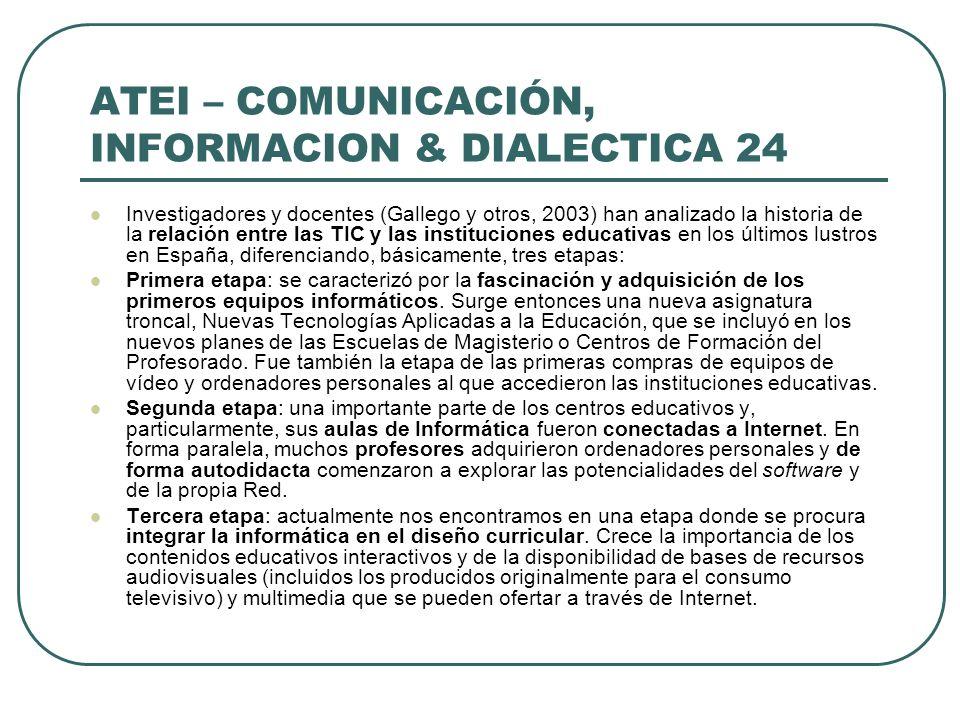 ATEI – COMUNICACIÓN, INFORMACION & DIALECTICA 24