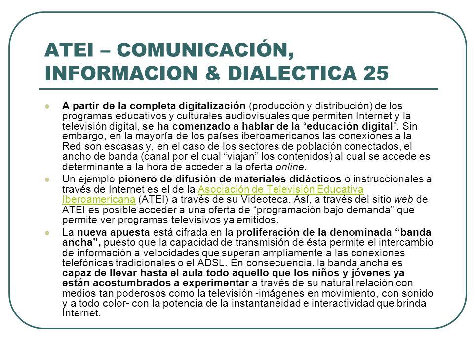 ATEI – COMUNICACIÓN, INFORMACION & DIALECTICA 25