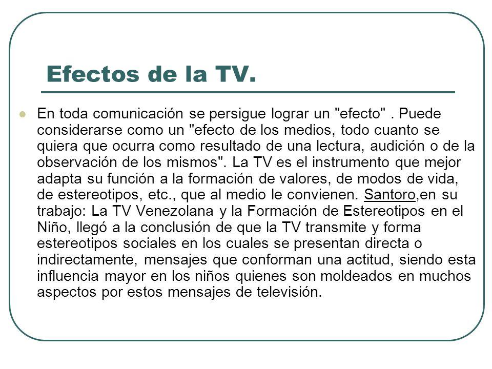 Efectos de la TV.