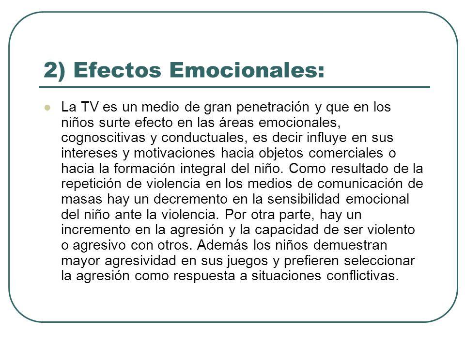 2) Efectos Emocionales: