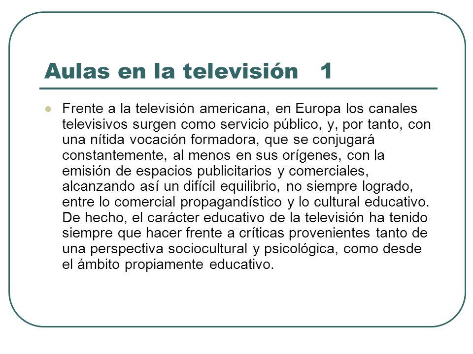 Aulas en la televisión 1