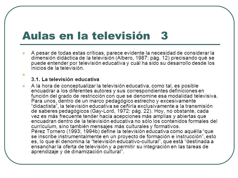 Aulas en la televisión 3