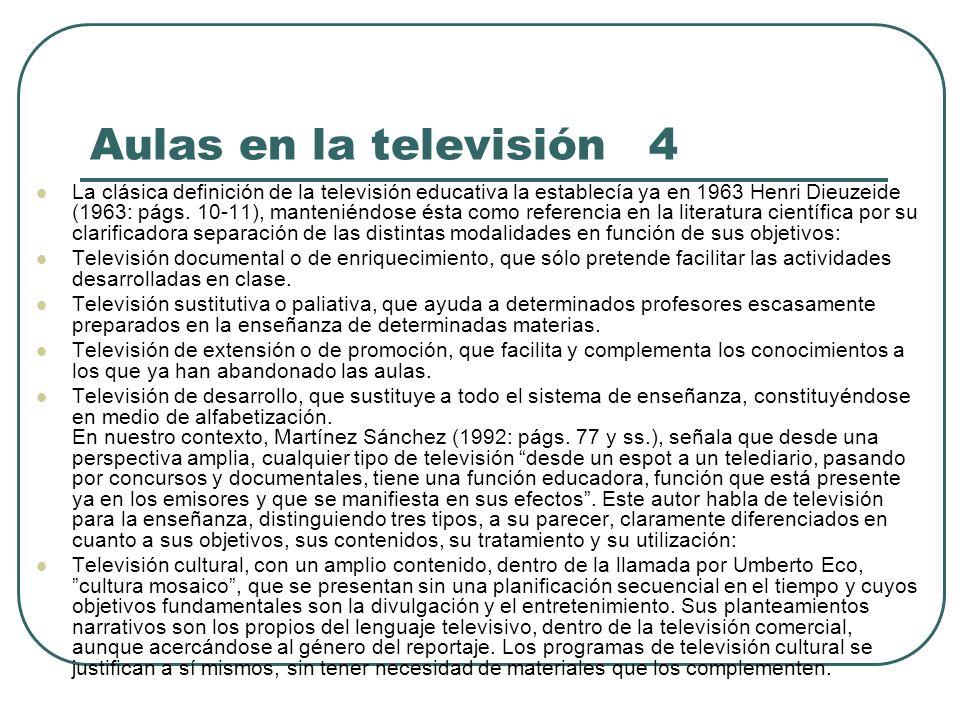 Aulas en la televisión 4
