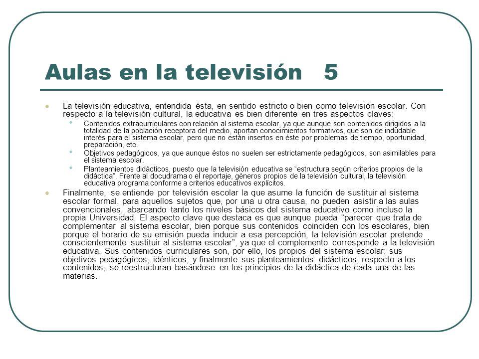 Aulas en la televisión 5
