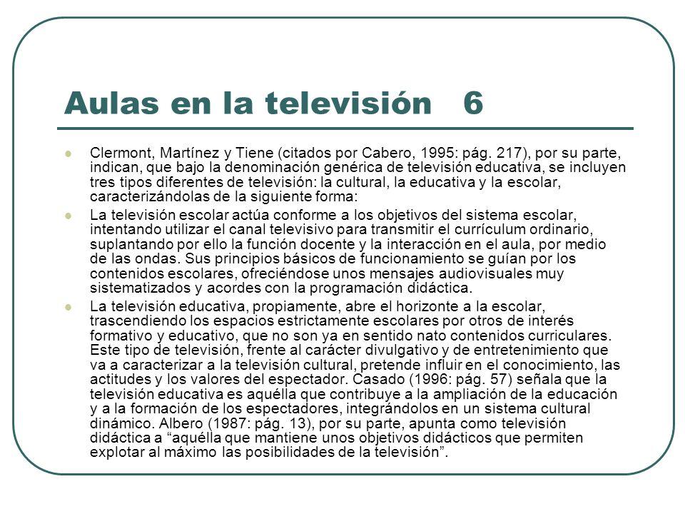 Aulas en la televisión 6