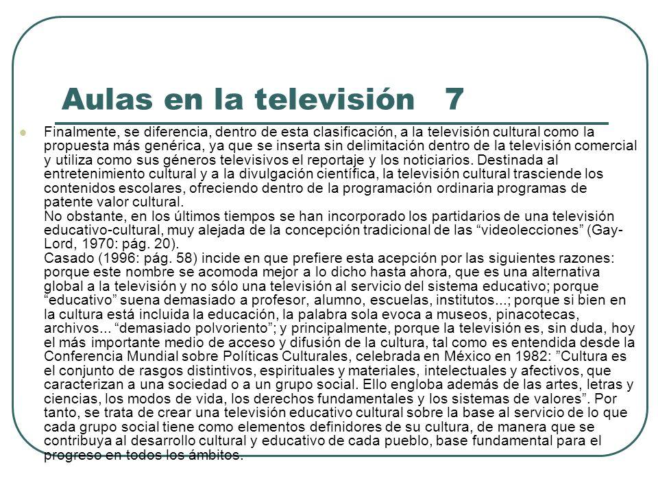 Aulas en la televisión 7