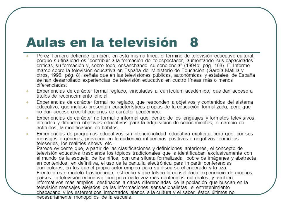 Aulas en la televisión 8