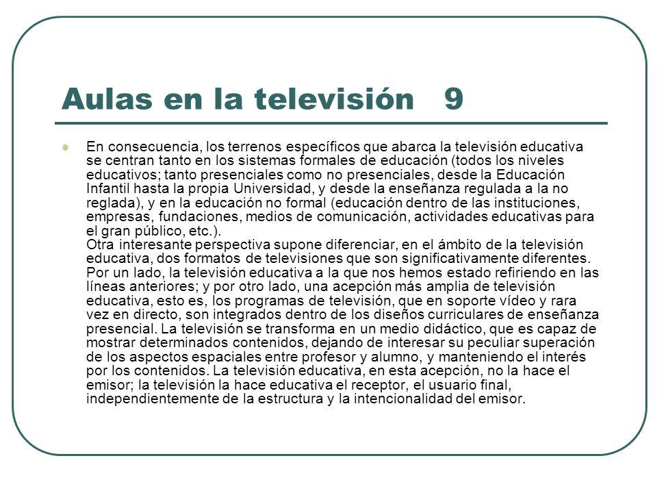 Aulas en la televisión 9