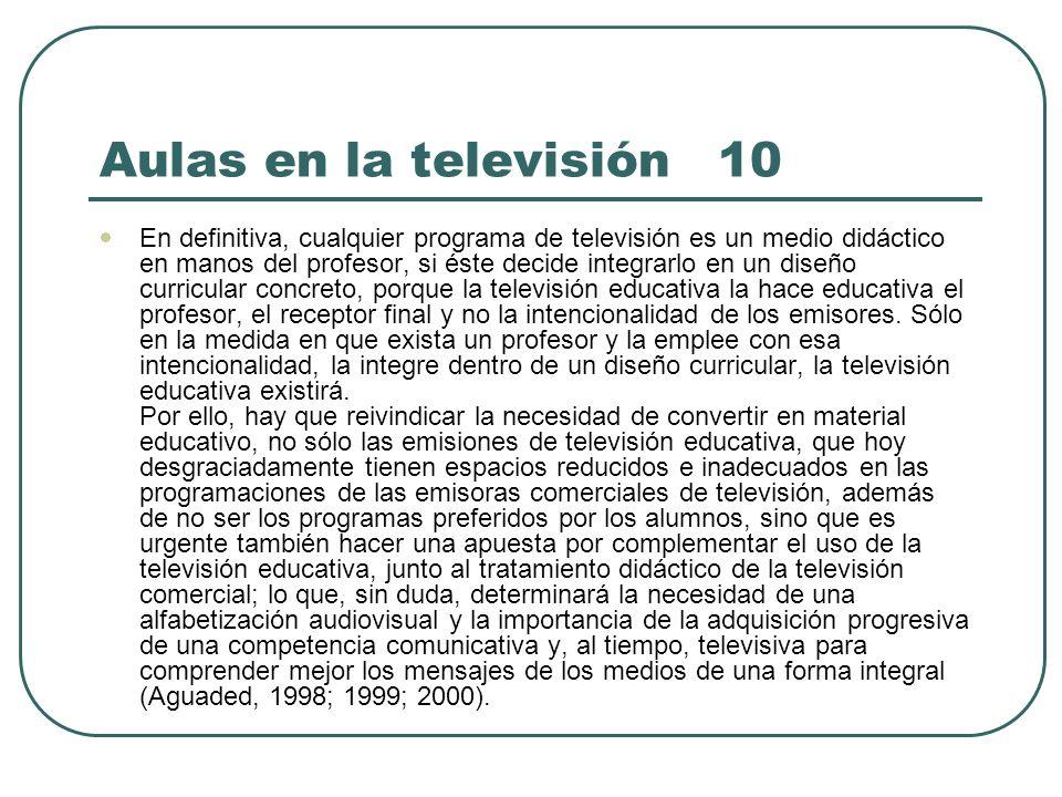 Aulas en la televisión 10
