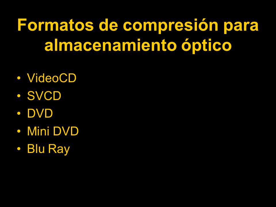 Formatos de compresión para almacenamiento óptico
