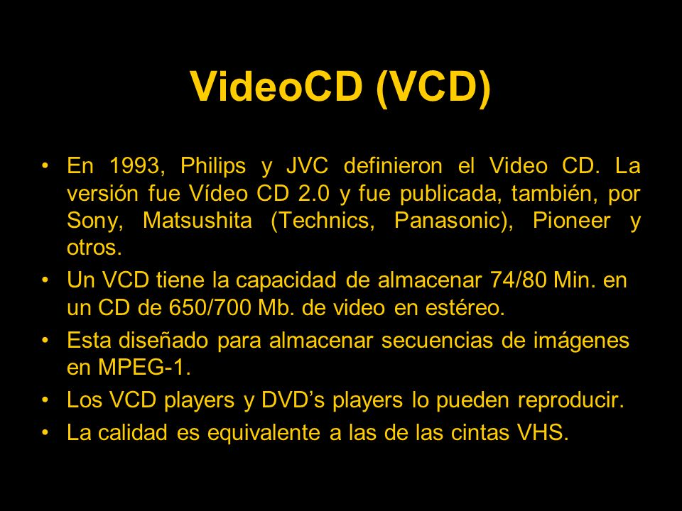 VideoCD (VCD)
