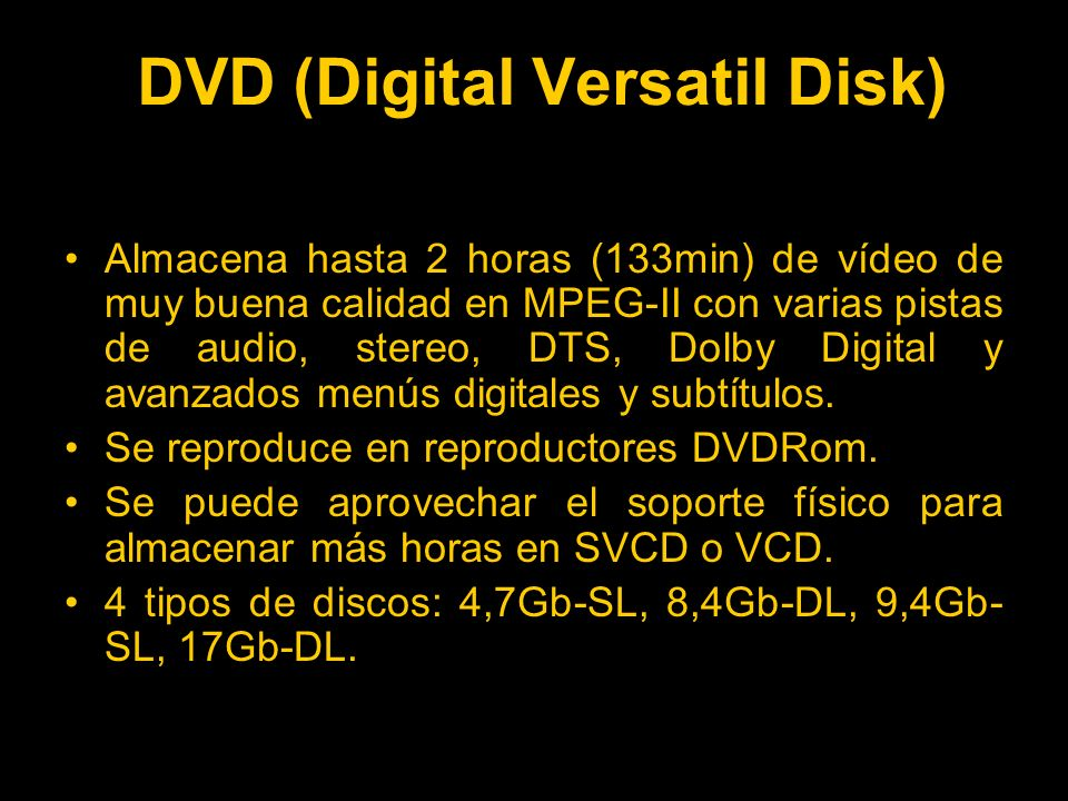DVD (Digital Versatil Disk)