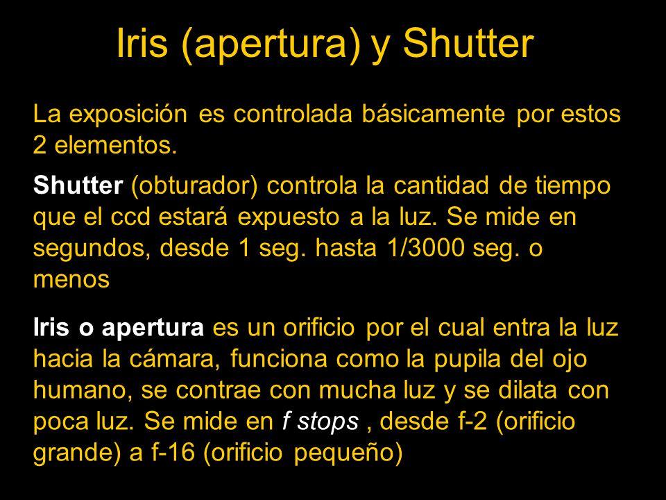 Iris (apertura) y Shutter