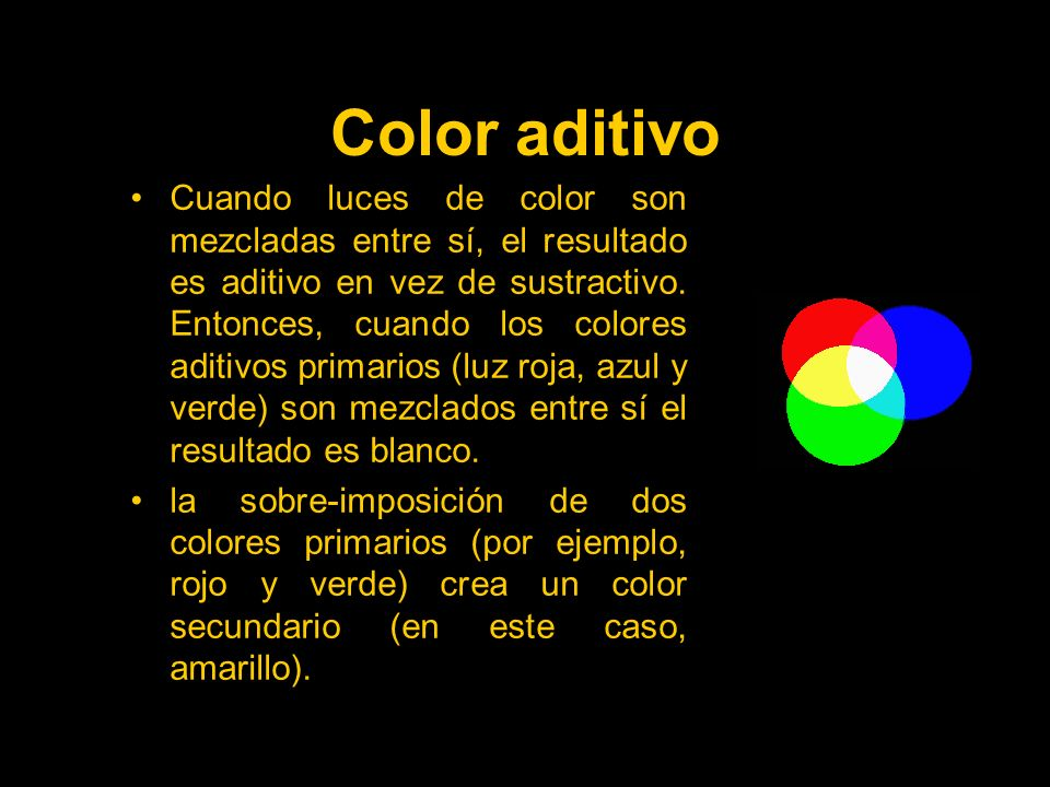Color aditivo