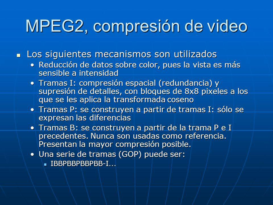 MPEG2, compresión de video