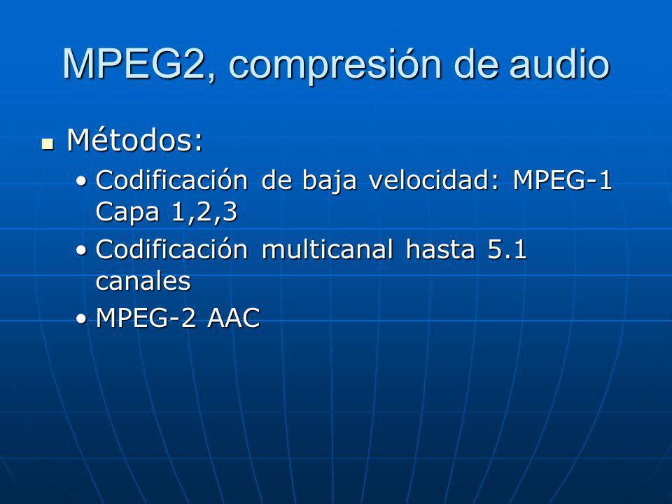 MPEG2, compresión de audio