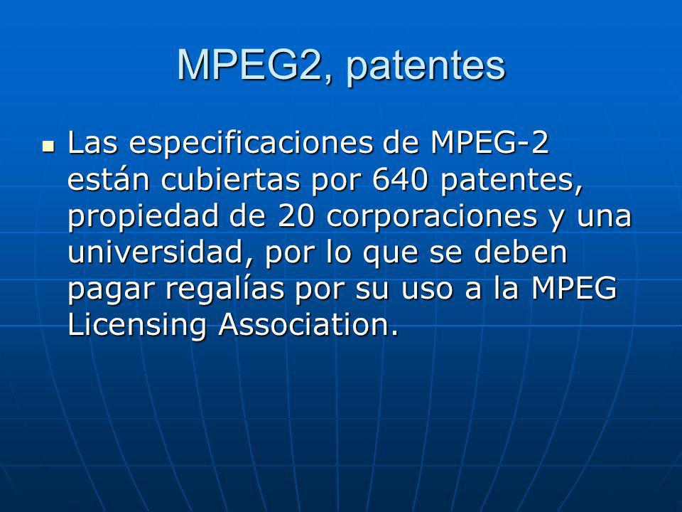 MPEG2, patentes