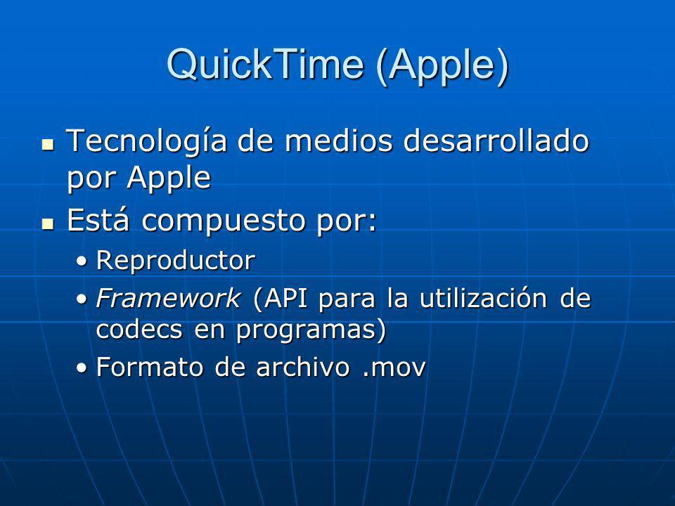 QuickTime (Apple) Tecnología de medios desarrollado por Apple